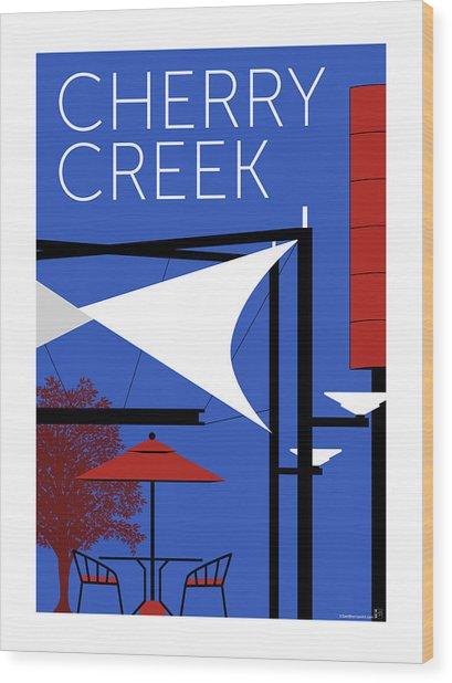 Cherry Creek Blue Wood Print