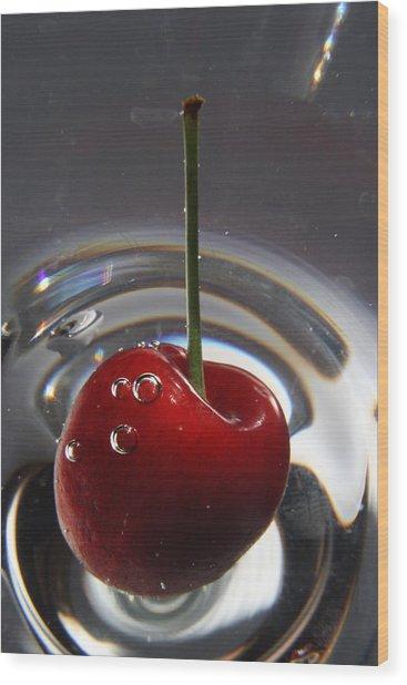 Cherry Martini Wood Print