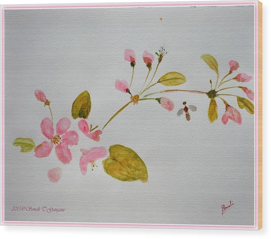 Cherry Pink Wood Print