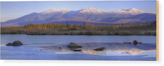 Cherry Pond Reflections Panorama Wood Print