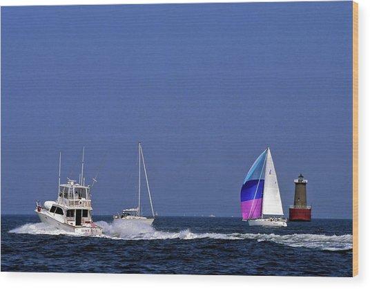 Chesapeake Bay Action Wood Print