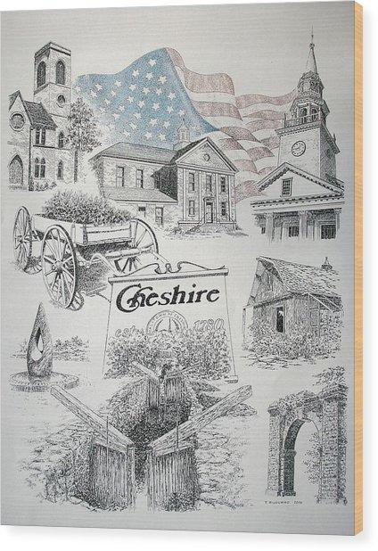 Cheshire Historical Wood Print