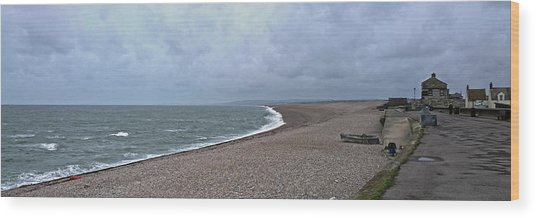 Chesil Beach November 2013 Wood Print