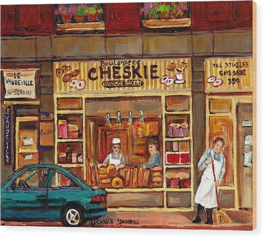 Cheskies Hamishe Bakery Wood Print
