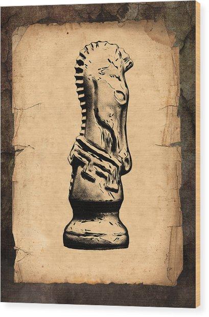 Chess Knight Wood Print