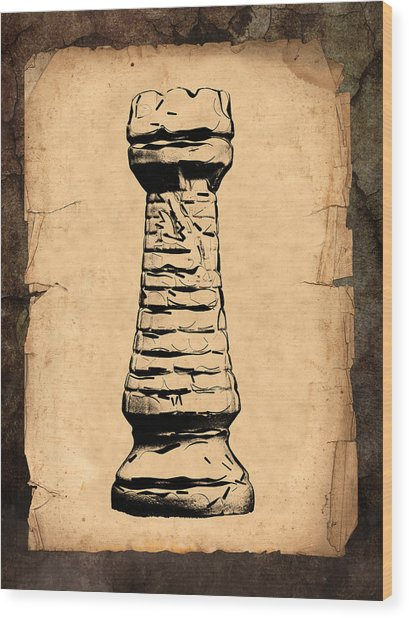 Chess Rook Wood Print