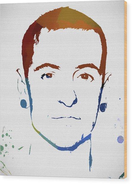 Chester Bennington Color Tribute Wood Print