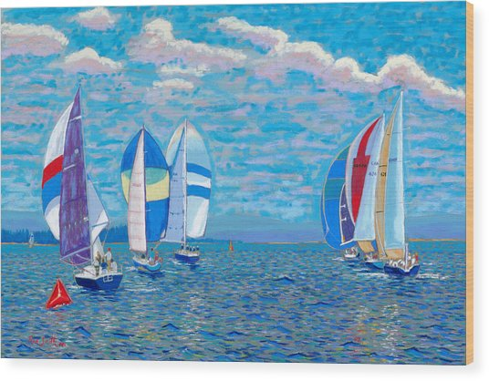 Chester Race Week 2009 Wood Print by Rae  Smith PSC
