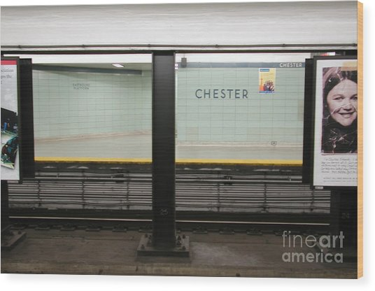 Chester Station Toronto Wood Print