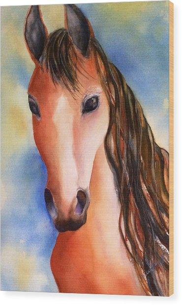 Chestnut Horse Wood Print