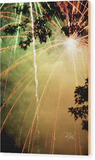 Chetola Yellow Fireworks Wood Print