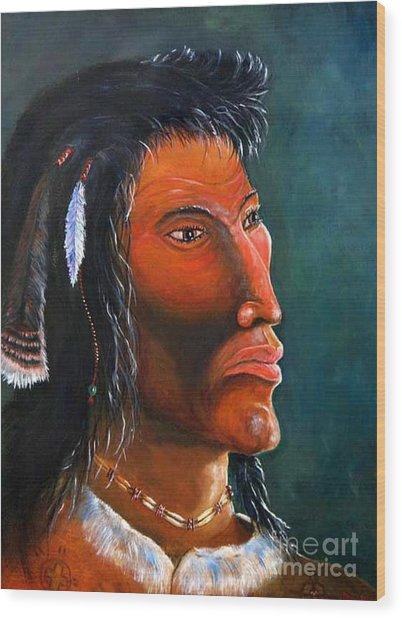 Cheveyo Spirit Warrior  Wood Print