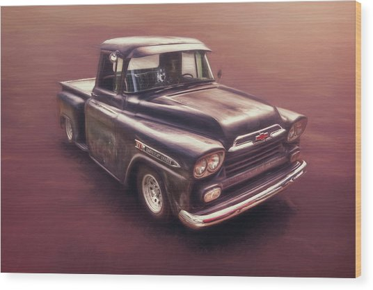 Chevrolet Apache Pickup Wood Print