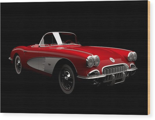 Chevrolet Corvette C1 Wood Print