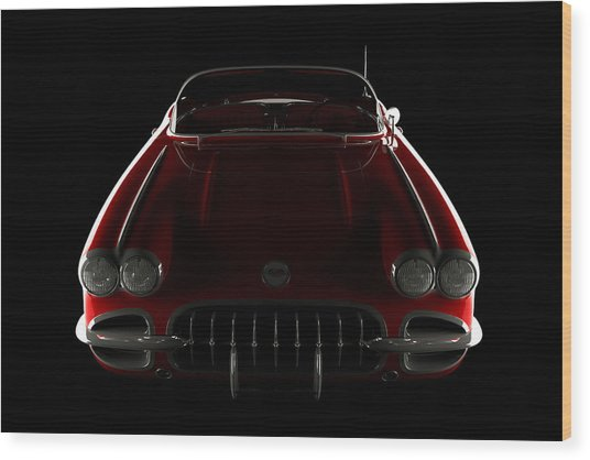 Chevrolet Corvette C1 - Front View Wood Print