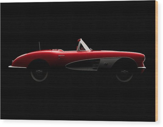 Chevrolet Corvette C1 - Side View Wood Print