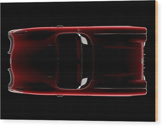 Chevrolet Corvette C1 - Top View Wood Print