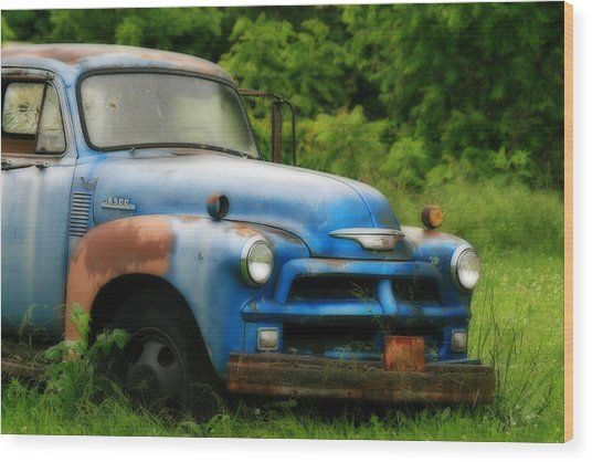 Chevy 6500 Farm Truck Wood Print