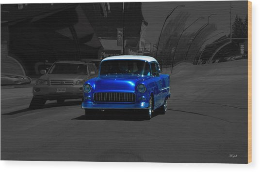 Chevy Bel Air Wood Print