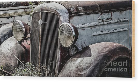 Wood Print featuring the photograph Chevy Grill IIi by Brad Allen Fine Art