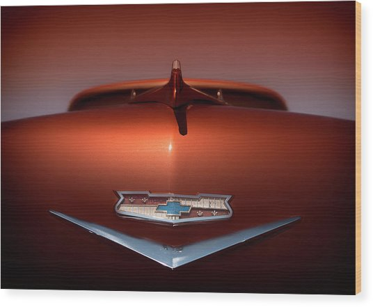 Chevy Nomad Wood Print by Larry Helms