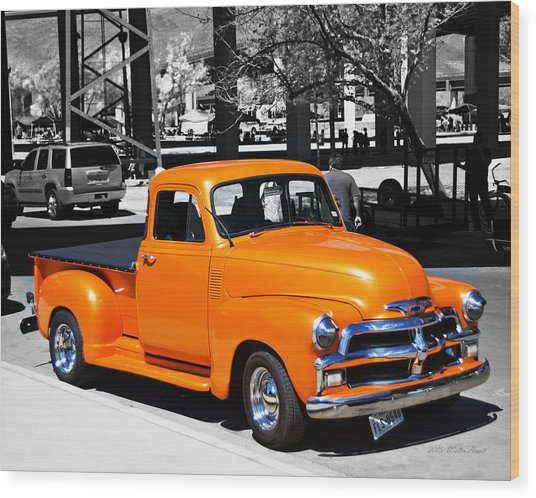 Chevy Pick Up  Wood Print