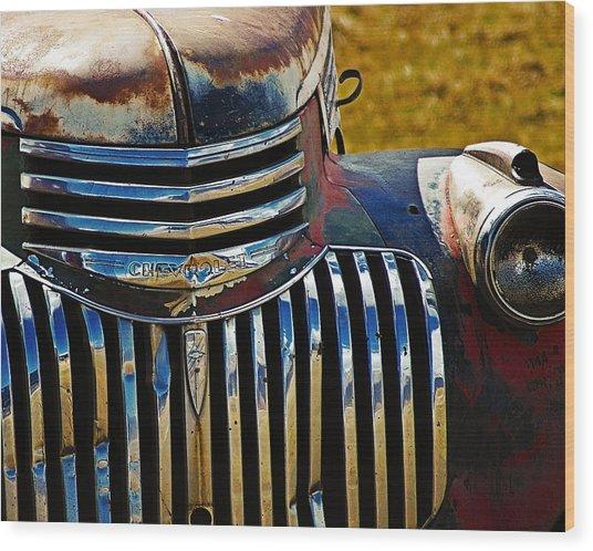 Chevy Truck Wood Print