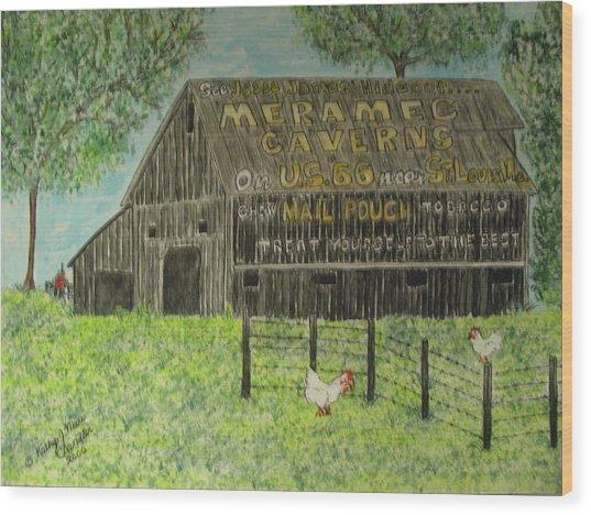 Chew Mail Pouch Barn Wood Print