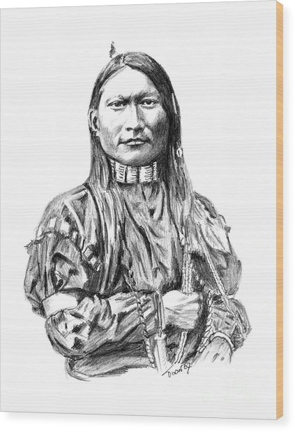 Cheyenne Man Wood Print
