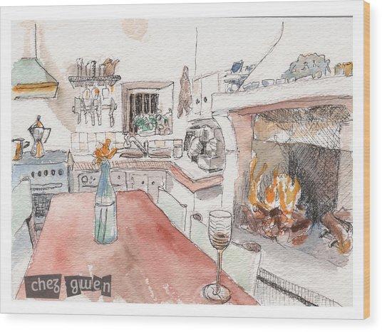 Chez Gwen Wood Print