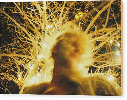Wood Print featuring the photograph C'hi Energy  by Angelique Bowman