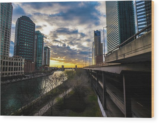 Chi Sunrise 2 Wood Print