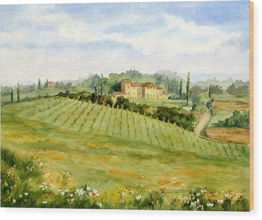 Chianti Villa Wood Print