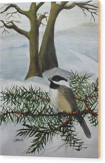 Chicadee  180126 Wood Print