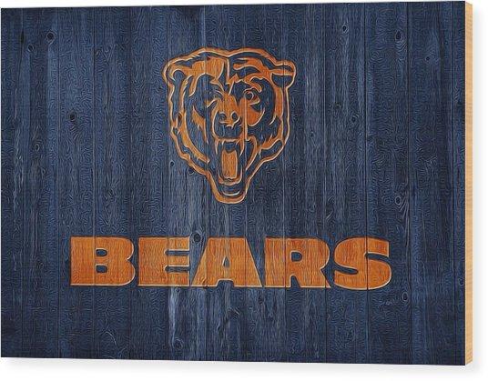 Chicago Bears Barn Door Wood Print