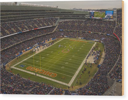 Chicago Bears Soldier Field 7795 Wood Print