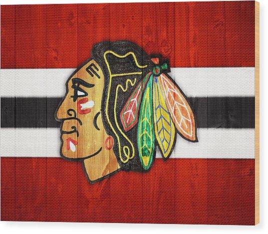 Chicago Blackhawks Barn Door Wood Print