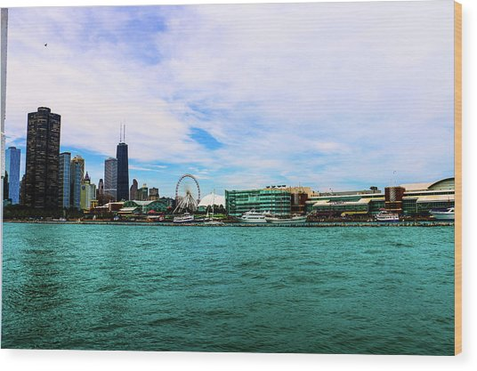 Chicago Blue Wood Print