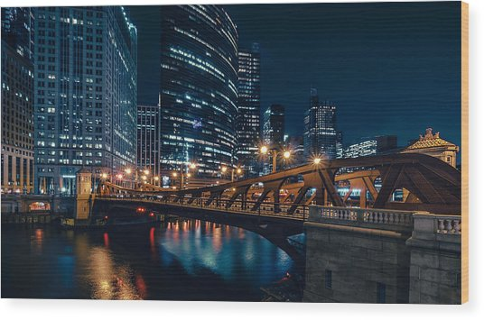 Chicago Blue II Wood Print