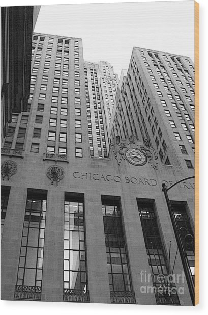 Chicago Board Of Trade Wood Print