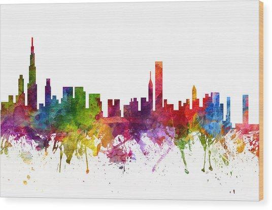 Chicago Cityscape 06 Wood Print