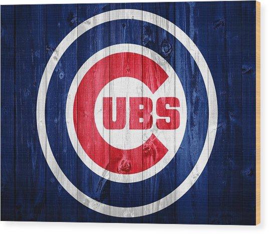 Chicago Cubs Barn Door Wood Print
