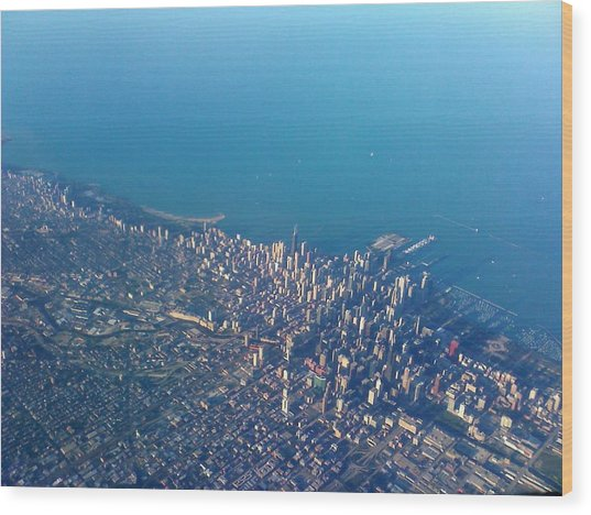 Chicago From Way Up Wood Print by Jacob Stempky