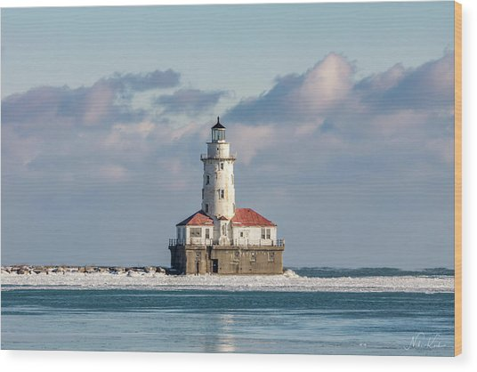 Chicago Harbor Lighthouse Wood Print