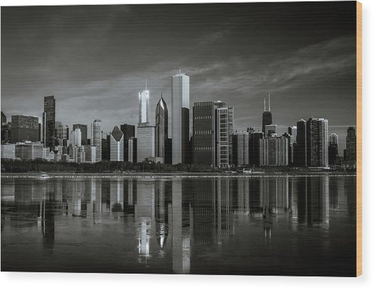 Chicago Lake Front Wood Print