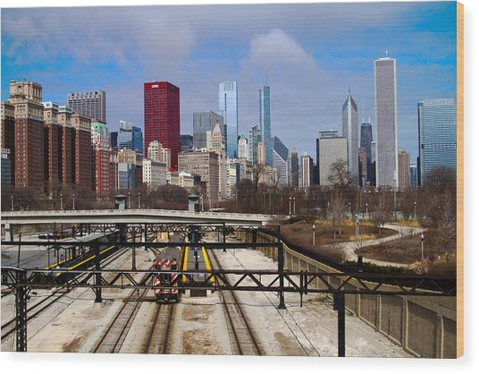 Chicago Metro Wood Print