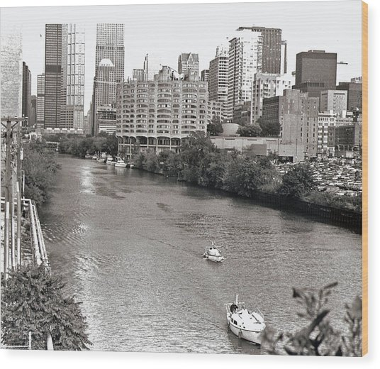 Chicago River Wood Print by Eric Belford