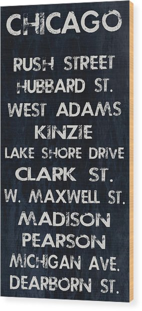 Chicago Sites Wood Print