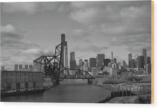 Chicago Skyline 2 Wood Print