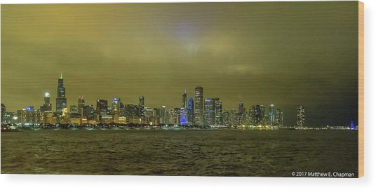 Wood Print featuring the photograph Chicago Skyline by Matthew Chapman